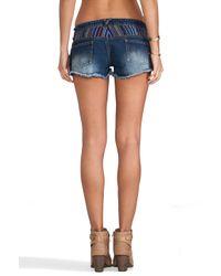 MINKPINK Blue California Fiesta Hipster Shorts in Multi