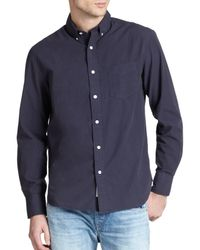 Rag & Bone - Blue Standard Issue Cotton Poplin Sportshirt for Men - Lyst