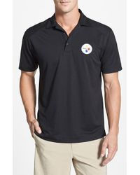 Cutter & Buck | Black 'pittsburgh Steelers - Genre' Drytec Moisture Wicking Polo for Men | Lyst