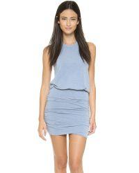 Sundry - Blue Sleeveless Dress - Midnight Pigment - Lyst