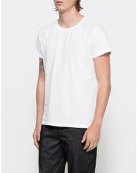 Brandblack | White Slub Tee for Men | Lyst