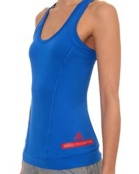 Adidas By Stella McCartney - Blue Performance Racer-Back Tank Top - Lyst