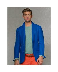 Polo Ralph Lauren | Blue Solid Linen Sport Coat for Men | Lyst