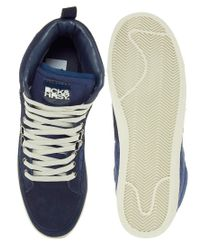 Beck & Hersey | Blue Hitop Trainers for Men | Lyst