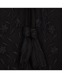River Island Black Drop Waist Smock Dress