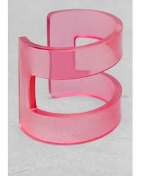 & Other Stories - Pink Semi Transparent Cuff - Lyst