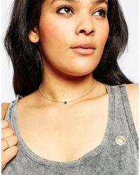 ASOS | Blue Evil Eye Charm Choker Necklace | Lyst
