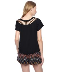 Ella Moss | Black Bella Top | Lyst