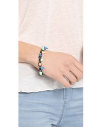 Joomi Lim - Gray Pretty in Punk Painted Spikes Bracelet - Lyst