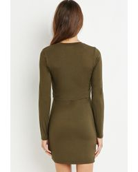Forever 21 | Green Layered Dress | Lyst