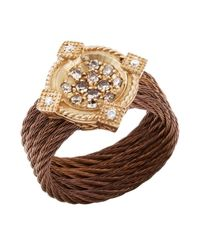 Charriol - Metallic Women'S Celtique Rose 18K Gold And Bronze-Tone Diamond .35Tcw Ring - Lyst