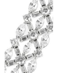 Kenneth Jay Lane | Metallic Silver-plated Cubic Zirconia Bracelet | Lyst
