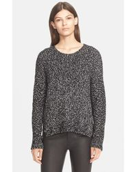 VINCE | Black Multicolor Crew Neck Pullover | Lyst