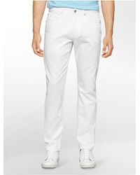 Calvin Klein | White Label Slim Fit 5-pocket Cotton Slub Pants for Men | Lyst