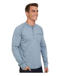 The North Face | Blue Long Sleeve Seward Henley Shirt for Men | Lyst