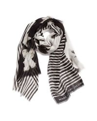 Marc By Marc Jacobs - Black 'Grand Painted Flower' Scarf - Lyst