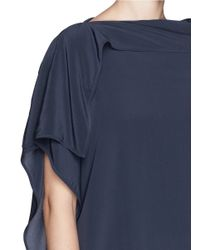 Acne Studios - Blue 'nightly Silk' Asymmetric Shift Dress - Lyst