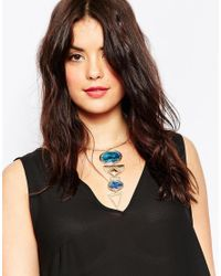 Asos Curve | Metallic Mixed Shapes Choker Necklace | Lyst