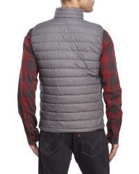 Weatherproof - Black Packable Down Zip Vest for Men - Lyst