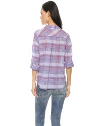 Joie | Purple Aidan Button Down - Matisse | Lyst