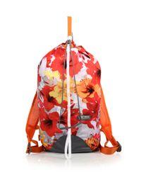 Adidas By Stella McCartney - Orange Floral Print Backpack - Lyst