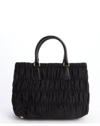 b1a39b22fb2e ... ireland prada nylon tessuto gaufre top handle small tote in black lyst  3e860 500a9