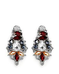 Assad Mounser - Multicolor Crystal Bead Pavé Stud Earrings - Lyst