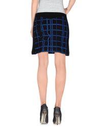 KENZO - Black Mini Skirt - Lyst