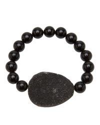 Ali Grace Jewelry - Black Beaded Onyx Geode Bracelet - Lyst
