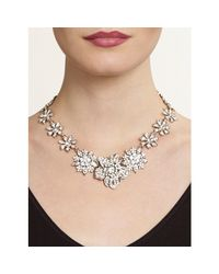 Nina - Metallic Orchid Necklace - Lyst