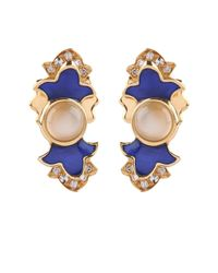 Sabine G | Metallic Diamond, Moonstone & Yellow-Gold Earrings | Lyst
