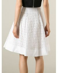 Ermanno Scervino | White Cut-Out Flower Patterned Skirt | Lyst