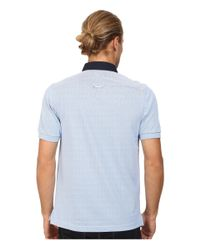Fred Perry - Blue Woven Trim Pique Shirt for Men - Lyst
