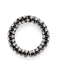 Kenneth Jay Lane | Metallic Crystal Elastic Bracelet | Lyst