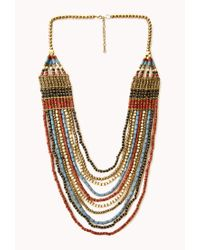 Forever 21 - Multicolor Worldly Layered Beaded Necklace - Lyst