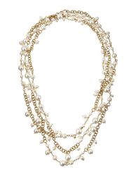 Rosantica Metallic Chimera Extra-Long Multi-Strand Pearl Necklace