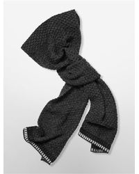 Calvin Klein - Black White Label Twisted Knit Muffler Scarf - Lyst
