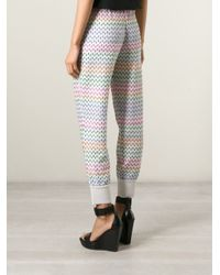 Missoni - Multicolor Crochet-knit Tapered Pants - Lyst