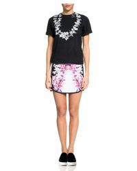 Cynthia Rowley Black Cotton Lei T Shirt