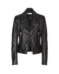Balenciaga - Black Leather Biker Jacket - Lyst
