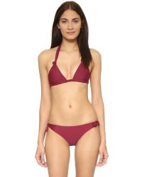 Mikoh Swimwear | Red St John Triangle Bikini Top | Lyst