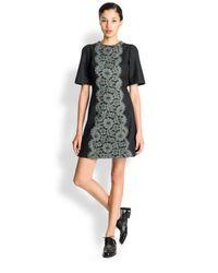 Dolce & Gabbana Gray Lace Applique Dress