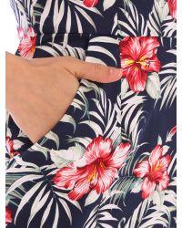 Tenki Blue V-neck Floral Print Dress