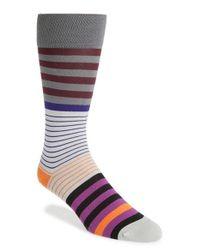 Paul Smith - Gray 'dual Stripe' Socks for Men - Lyst