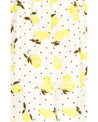 Piamita | Yellow Jill Silk Lemon Print Pajama Top | Lyst