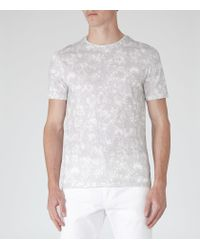 Reiss - Gray Cogg Printed Cotton Shirt for Men - Lyst