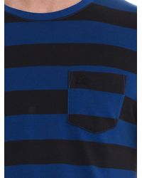 Burberry Brit Blue Blakeley Striped T-Shirt for men