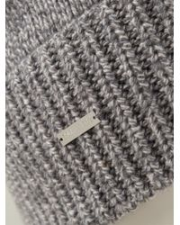 DSquared² - Gray Knitted Hat for Men - Lyst
