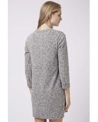 TOPSHOP | Gray Maternity Drawstring Dress | Lyst