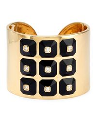 Maria Canale For Forevermark | Metallic 18k Pyramide Collection Onyx & Diamond Cuff | Lyst
